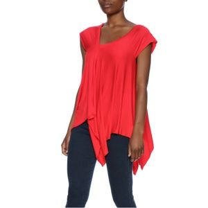 NWT Red Handkerchief Hem Top Tunic